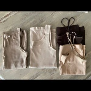 Tank top bundle - beige and brown